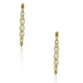 Buccellati 18K Yellow Gold Circle Drop Earrings