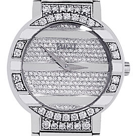 Piaget Polo 18k White Gold All Diamond 25th Anniversary Ladies Watch