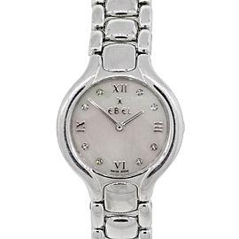 Ebel Beluga MOP Diamond Dial Stainless Steel Ladies Watch