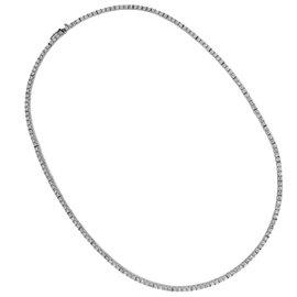 18K White Gold 4.40ctw. Diamond Tennis Necklace
