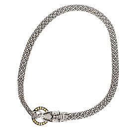 John Hardy 18K Yellow Gold, 925 Sterling Silver Diamond Necklace