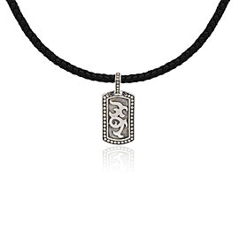 John Hardy Sterling Silver Leather Necklace