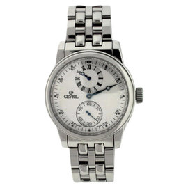 Gevril Regulator Stainless Steel Silver Dial 40mm Mens Watch