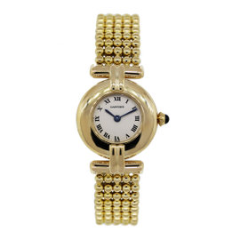 Cartier 18K Yellow Gold 24mm Womens Vintage Watch 1980s