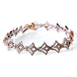Gregg Ruth 18K Multi-Tone Gold Diamond Bracelet