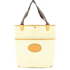 Gucci White Supreme GG Web Large Tote Bag 1GGLM312