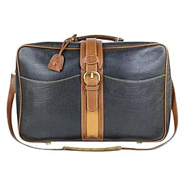Gucci 2way Suitcase Carry-on 99gt24 Black Leather Weekend/Travel Bag