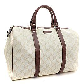 Gucci Bag Boston X Brown Joy 9gk0106 White Gg Supreme Canvas Satchel