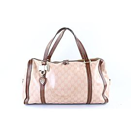 Gucci Bag Duffle Boston Duchessa 223252 Pink Crystal Canvas Satchel