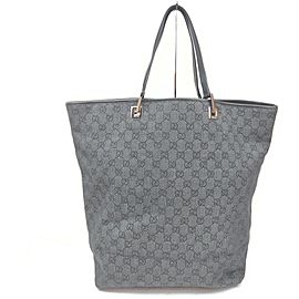 Gucci Large Charcoal Monogram Eclipse Bucket Tote Bag 863166