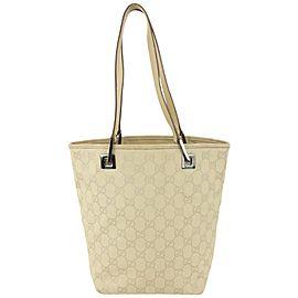 Gucci Beige Monogram GG Eclipse Bucket Tote Bag 826gk86