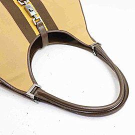 Gucci Bardot Jackie Hobo Jackie-o 860083 Brown Canvas Shoulder Bag
