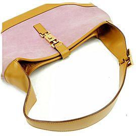 Gucci Bardot Jackie Hobo O Jackie-o 872409 Purple Suede Leather Shoulder Bag