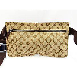 Gucci Belt Bum Monogram Fanny Pack Waist Pouch 235975 Brown Gg Canvas Cross Body Bag