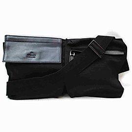 Gucci Belt Fanny Pack Waist Pouch 860104 Black Nylon Cross Body Bag
