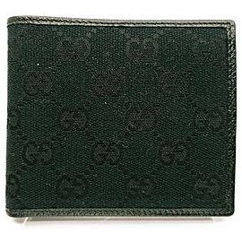 Gucci Black Monogram GG Bifold Wallet 863017