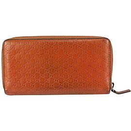 Gucci Guccisima Leather Zip Around Wallet Long Continental 830gk20