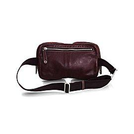 Gucci Bum Waist Brown Fanny Pacl Waist Pouch Belt 228311 Bordeaux Leather Cross Body Bag