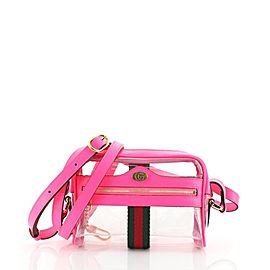 Gucci Pink Translucent Ophidia Camera Bag Crossbody Clear Beach 858317