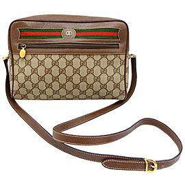 Gucci Camera Monogram Ophidia Medium 232355 Brown Gg Supreme Canvas Cross Body Bag