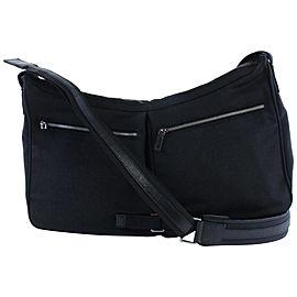 Gucci Messenger Hobo Double Pocket 229932 Black Nylon Cross Body Bag
