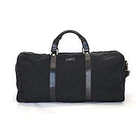 Gucci Duffle Boston 2way 226369 Black Nylon X Leather Weekend/Travel Bag