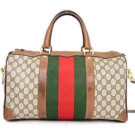 Gucci Duffle Boston Monogram Sherry Web Joy with Strap 235381 Brown Gg Canvas Weekend/Travel Bag
