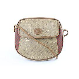 Gucci Gg Diagonal Stripe 2gj1022 Beige Coated Canvas Cross Body Bag