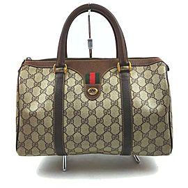 Gucci Supreme GG Web Joy Boston Bag 862526