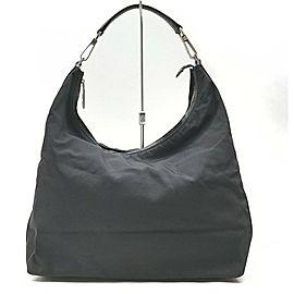 Gucci Black Nylon Hobo Bag 863209
