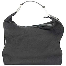 Gucci Hobo Extra Large Signature 235385 Black Nylon Shoulder Bag
