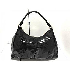 Gucci Hobo Patent D-ring 231936 Black Shoulder Bag
