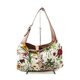 Gucci Floral Flora Jackie O Bardot Hobo 863349