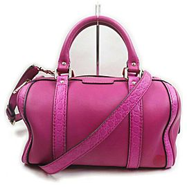 Gucci Hot Pink Fuchsia Leather Joy Boston Bag with Strap 863020