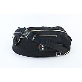 Gucci Large Banana Fanny Pack Web Tag Bum Waist Pouch 18gz0724 Black Canvas X Nylon Weekend/Travel Bag