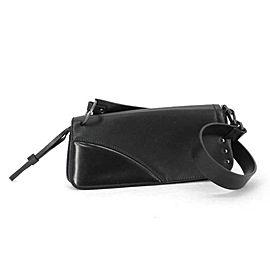 Gucci Limited Long 224205 Black Leather Shoulder Bag
