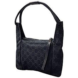 Gucci Monogram Gg 234526 Black Hobo Bag