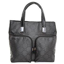 Gucci Monogram Gg Twin Pocket 233062 Black Nylon Tote