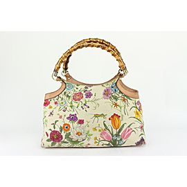 Gucci Bamboo Flora Floral Tote Bag 158gks730