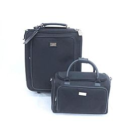 Gucci Rolling Luggage and Satchel 228885 Black Nylon Weekend/Travel Bag