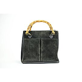 Gucci Bamboo 37gga1216 Black Satchel
