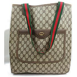Gucci Supreme GG Monogram Web Large Shopping Tote 861679