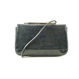 Gucci Black Patent Flap Shoulder bag 729ggs324