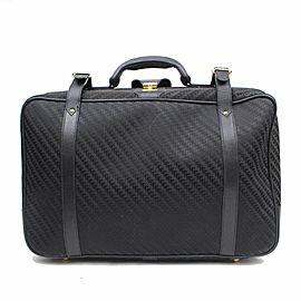 Gucci Black Signature Monogram GG Luggage Travel Bag 858249