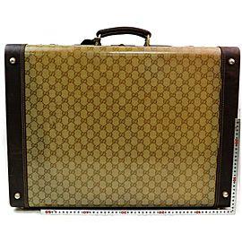 Gucci Steamer Crystal Gg Monogram Hard Case Trunk 871911 Brown Coated Canvas Weekend/Travel Bag