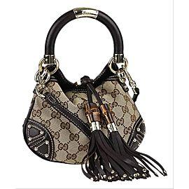 Gucci Top Handle Indy Gg Mini Babouska 1ga515 Brown Canvas Hobo Bag