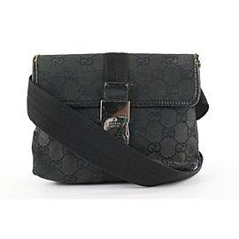 Gucci Black Monogram GG Waist Bag Belt Pouch Fanny Pack 948gks416