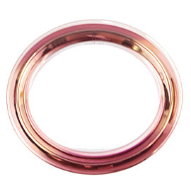 Gucci Runway Pink & Orange Metal Clear Plexiglass Bangle Bracelet
