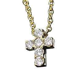 Van Cleef & Arpels 18K Yellow Gold and Diamond Cross Pendant Necklace