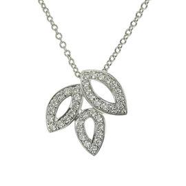 Harry Winston Harry Lily 950 Platinum with Diamond Cluster Mini Necklace